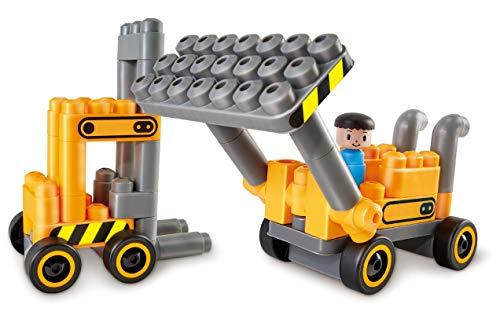 PolyM 760022 Bunter Zahlenzug, Flexible Bausteine, Lernspielzeug, Mehrfarbig