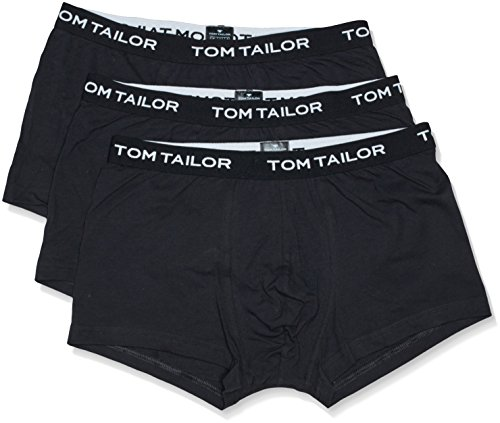 TOM TAILOR Underwear Herren Hip Pants 3er Pack 70162-6061 Retroshorts, Schwarz (Black 9303), XX-Large (Herstellergröße: XXL/8)