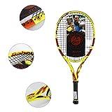 Chunjiao Raquette de Tennis Junior Racket Adultes Carbone Enfants de 250g (Color : Yellow, Size : 26inches)