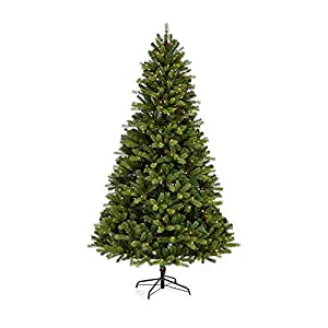 NOMA 7 Ft. Pre-lit Artificial Pine Christmas Tree with 400 Warm White Incandescent Bulbs | 1336 Tips | Durand Pine