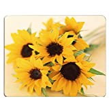 Nicokee Sunflowers Gaming Mousepad Nice Sunflowers Bouquet Yellow Mouse Pad Mouse Mat for Computer Desk Laptop Office 9.5 X 7.9 Inch Non-Slip Rubber
