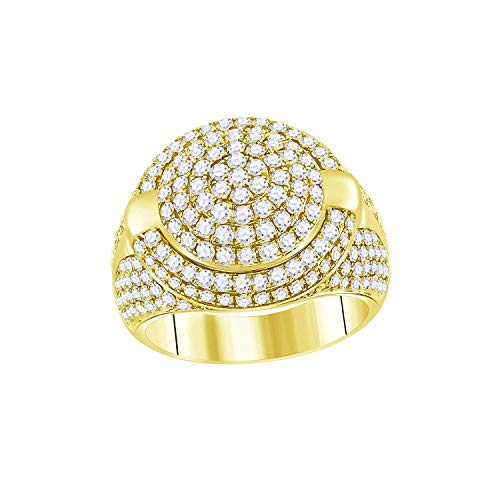 Dazzlingrock Collection Anillo de oro amarillo de 14 quilates con diamantes de 3,5 quilates (quilates) de 3 1/2 quilates