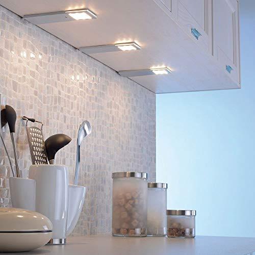 LED Unterbauleuchte Alu-Design 3er-Set mit Sensor Kunststoff