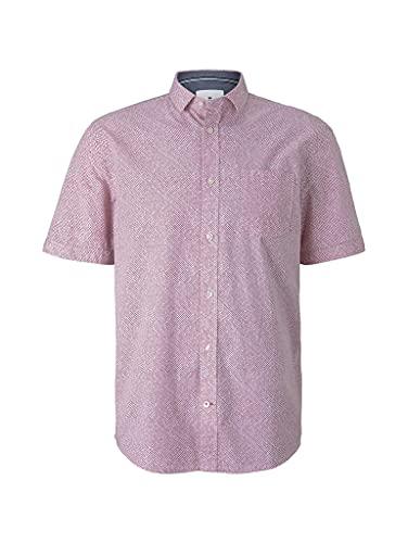 Tom Tailor 1025972 Print Camisa, 27046-Red Shades Grid Design, 3XL para Hombre