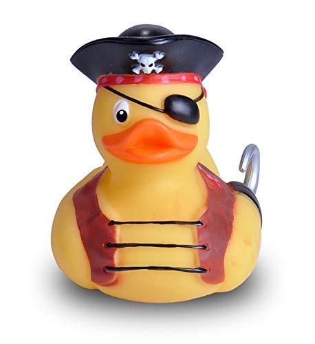 Wild Republic Rubber Duck, Gummiente, Pirat, Badewannen-Geschenke für Kinder, Quietscheentchen, Badespielzeug für Babys, Gummiente lustig, Badeente zum Sammeln, 10 cm, 23215