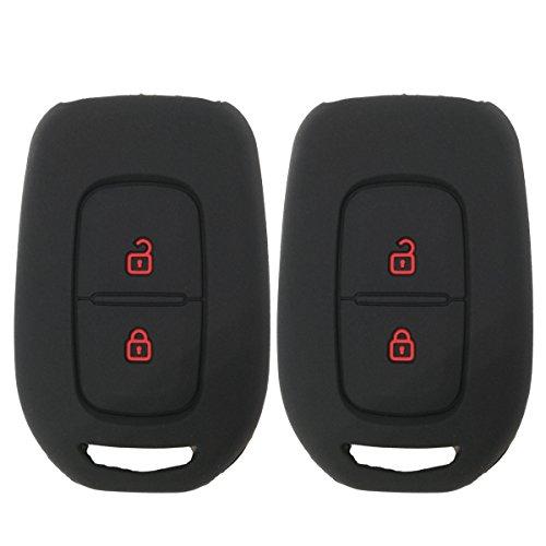 y Sc/énic Funda de silicona de Coolbestda para llave coche Renault Megane R.S 2Pcs Black 3 botones