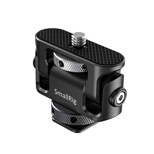 SMALLRIG Kippen Monitor Mount mit Cold Shoe Adapter, Monitor Holder Tilting Up to 185 Grad - BSE2431