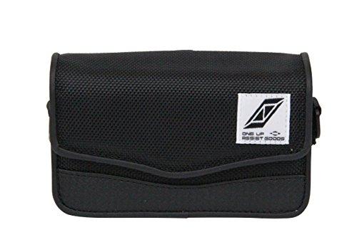 SK11 電子タバコケース 横型 ワーク S0-EC-S ブラック ポリエステル ブラック カラビナ付