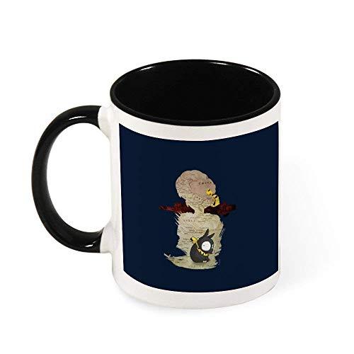DJNGN Taza de café de cerámica con silueta de viaje de Ranma Ryoga, regalo para mujeres, niñas, esposa, mamá, abuela, 11 oz