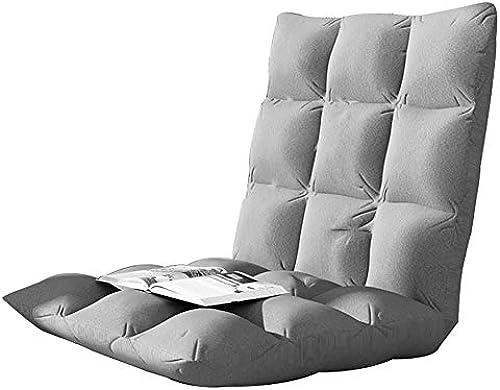 Bodensitzkissen Boden-Stuhl-justierbare Bodensitzpl e Gebrauch Als Spiel-Stuhl Meditations-Stuhl Oder Für Das Lesen Und Fernsehen Im Freienkampieren,grau-52  52.5cm