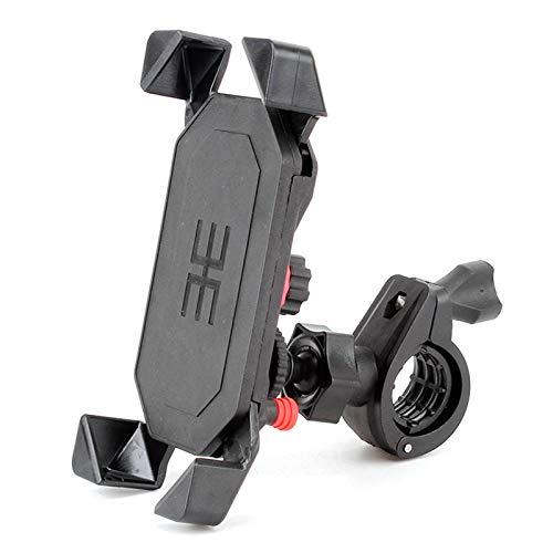 Lixada Soporte Universal para Teléfono Móvil para Bicicleta, Soporte a Prueba de Golpes para Bicicleta/Motocicleta/Scooter