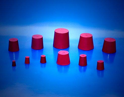 Gummistopfen 44/36mm ROT - Gummi Stopfen | Gummistopfen für Flaschen | Gummistöpsel | Gummi Korken | Gummi Pfropfen | Gummi Kork | Flaschenkorken | Silikon Stopfen