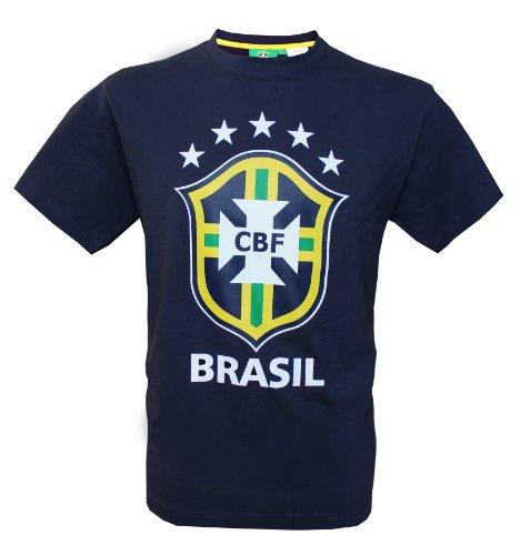 Seleçao Brasil–Camiseta oficial de la selección de fútbol de Brasil, talla para hombre adulto, Hombre, color azul marino, tamaño S