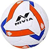 Balaji Traders Nivia-Shining Star Football - Size: 5 (White, Blue)