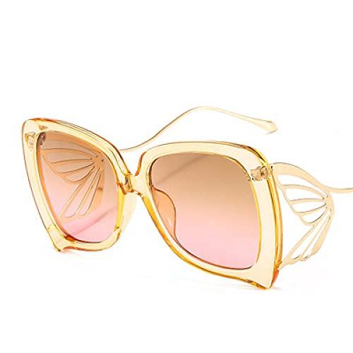 ShSnnwrl Único Gafas de Sol Sunglasses Gafas De Sol Elegantes De Mariposa A La Moda para Mujer, Nueva Personalidad, Gafas De Gran