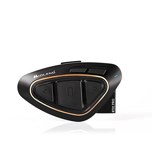 Midland BTX1 Pro - Intercomunicador Moto, Color Negro