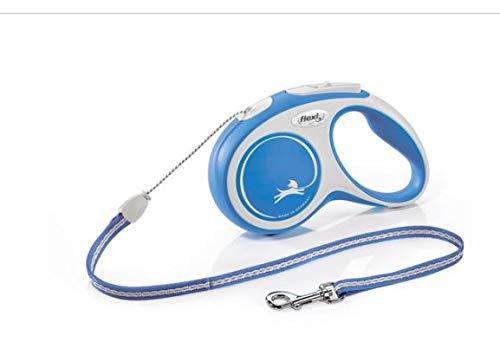 flexi Hundeleine, ausziehbar, mit weichem Griff, Größe S, 8 m – 12 kg, Blau