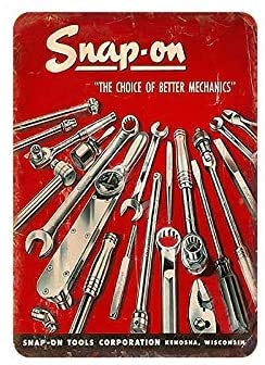 """GRYD Snap-On Tools Vintage Metal Tin Signs Retro Wall Decor,Retro Wall Decor Vintage Tin Signs 12"""" X 8"""" Inches"""
