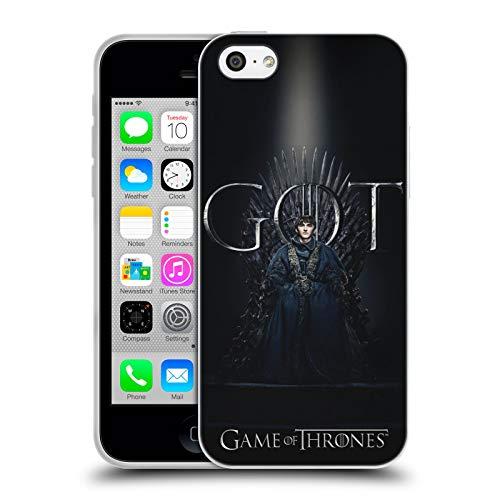 Officiële HBO Game of Thrones zemelen Stark Seizoen 8 voor de troon 1 Soft Gel Case Compatibel voor Apple iPhone 5c