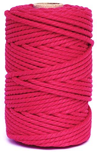 Cuerda/Hilo Macrame de Algodón Fucsia 5mm - Cortina macrame