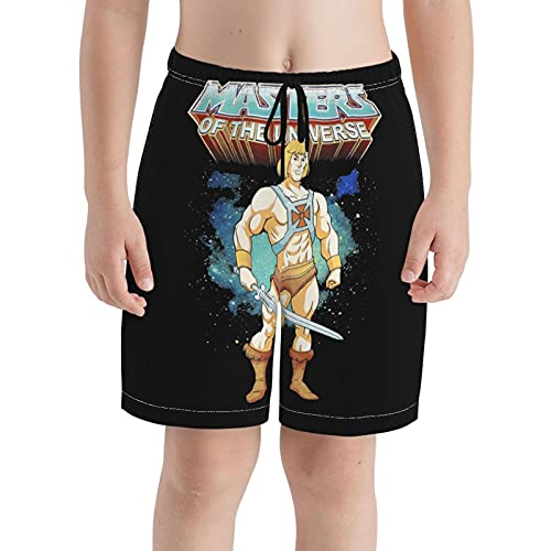 He-Man Masters of The Universe Youth Boys Girls Quick Dry Breathable Swim Trunk Beach Shorts White
