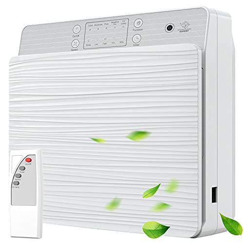 WEISIJI Luftreiniger, Wandmontage & Desktop Air Purifier mit Fernbedienung Keimtötung H13 HEPA Filter gegen 99,97% Tierhaare, Staub und Rauch 24dB leiser luftreiniger mit Timer für Zimmer Wohnung