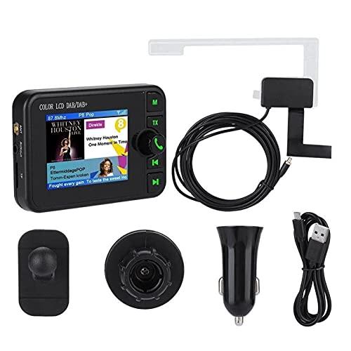 TAHMM Dab Radio Receptor en Coche con Pantalla Estéreo Sound Sound Digital Antena Adaptador de difusión Dab + Bluetooth MP3 FM Transmisor (Size : A)