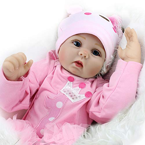 CHAREX Realistic Reborn Baby Doll, 22 Inch Soft Handmade Weighted Baby Dolls, A Newborn Baby Doll with Giraffe Toy, Gifts for Kids Age 3+