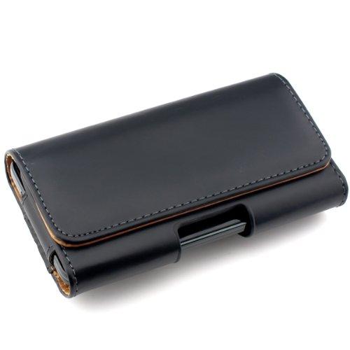 kwmobile Gürteltasche Hülle für Handys mit Gürtelclip - 14,4 x 7 cm Kunstleder Gürtel Hülle mit Gürtelschlaufe Schwarz