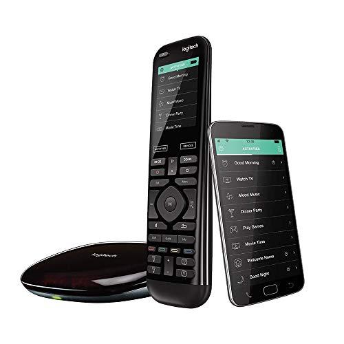 Logitech Harmony Elite Telecomando Universale Avanzato per SKY, TV Apple, fireTV, Roku, Netflix, Sonos e Smart Home, Azioni One-Touch, Facile Installazione, LG/Samsung/Sony/Hisense/Xbox/PS4, Nero