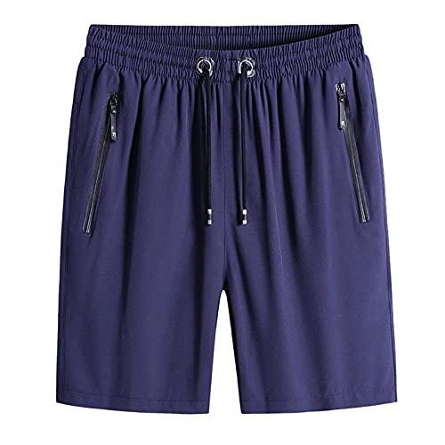 Pantalones Cortos Deportivos para Hombre,Hombres Verano Ocio Deportes Fitness Multi-bolsillo Herramientas Pantalones