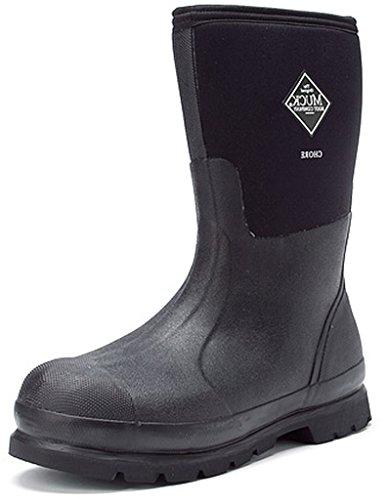 MuckBoots Muck CHM-000A Men's Chore Mid Soft Toe, Black, Size 10