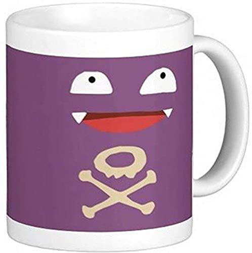 N\A Taza de café de cerámica Koffing Face de 11 oz U5JK4Q