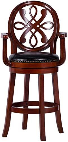 Sedia da bar in legno alta 30 pollici perfetta per cucina, sala da pranzo e soggiorno (ciliegio classico30)