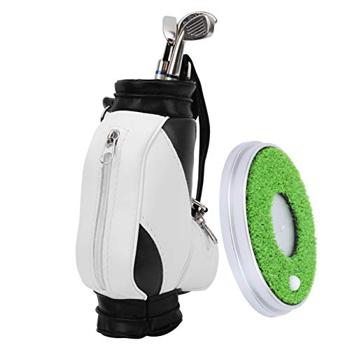 DAUERHAFT Minibolso Porta bolígrafo Interesante, para Golfista, como Set de Regalo de Recuerdo(Black and White)