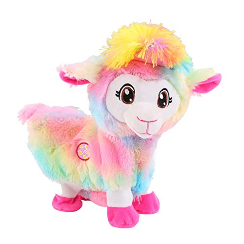 PANQQ Juguetes eléctricos de Felpa Baby Alpacas Doll Musical Funny Toy Pets Alive Boppi The Booty Llama de Shakin, Shake Heads Dancing Singsing