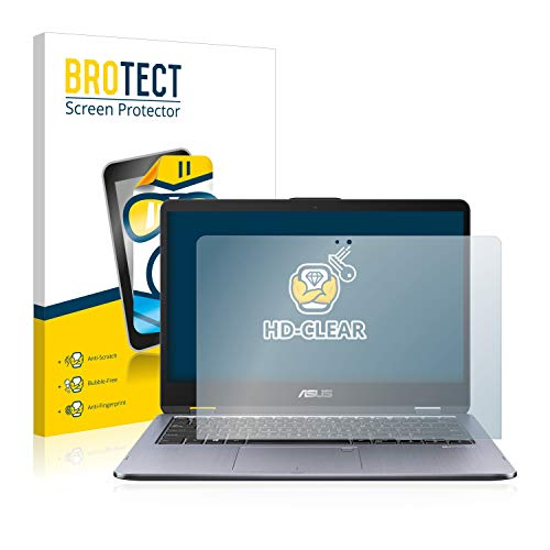 BROTECT Schutzfolie kompatibel mit Asus VivoBook Flip 14 TP410UA klare Bildschirmschutz-Folie