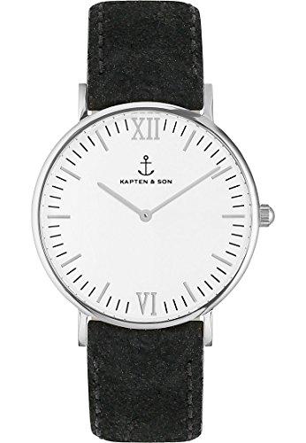 Kapten & Son Unisex-Uhren 36 Schwarz 32003651