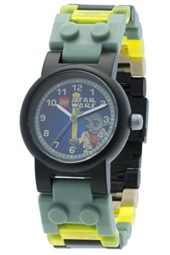Reloj modificable infantil de Yoda de LEGO Star Wars 8020295 con pulsera por piezas y figurita