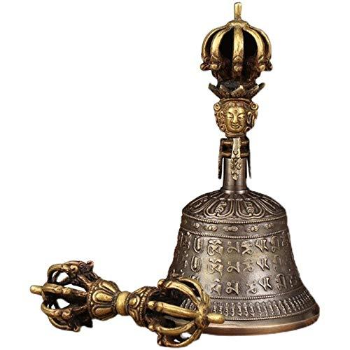 Feng Shui Campanas Campanas De Viento Nepal Jiugu Vajra Bells And Pestle Hand Bells Fine Nine Cobalt Tibetan Buddhist Talismans Vajra Bells And Pestle Bells-Campana De Mantra De Seis Caracteres Calibr