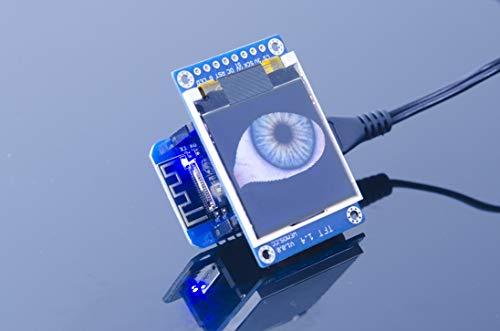ACROBOTIC WeMos ESP8266 D1 Mini 1,44 Zoll (128×128 TFT) Display Shield für Arduino NodeMCU Raspberry Pi Wi-Fi IoT SPI LCD