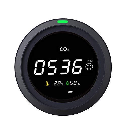 CO2 Messgerät KKmoon Luftqualität Messgerät Intelligentes Kohlendioxid/Temperatur/Luftfeuchtigkeit Detektor Luftqualitätstester Mehrzweckwerkzeug mit Batterie