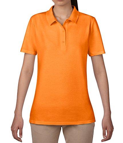 anvil Damen Fashion Basic Polo Piqué / 6280L, Einfarbig, Gr. 44 (Herstellergröße: L), Orange (MOR-Mandarin Orange 315)