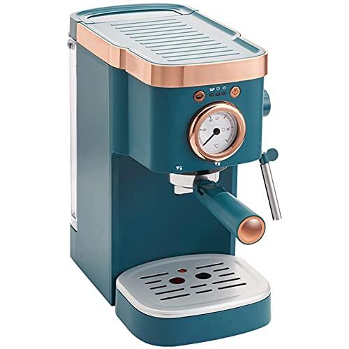 HMBB Máquina de café Cafetera de café automática|Espresso,Cappuccino&Latte Maker |Bomba italiana de 20 bares|Frotura de leche automática (azul)