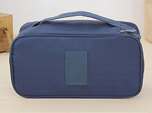 Sac De Rangement Sous-vêtements De Sous-vêtements Multifonction Sac De Voyage Sacs De Poche Finition Soutien-gorge Voyage Classification Sac,Blue