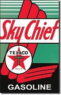 ShopForAllYou Vintage Decor Signs Texaco Fire Chief Hatful of Pep Motor Oil Gas Retro Wall Decor Metal Tin Sign