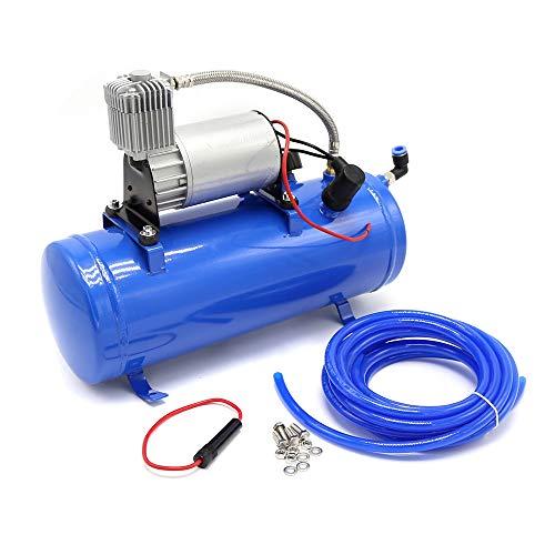 Compresor de aire 6L 150PSI 12V con tubo para vehículos/motos/bicicletas/balones y barcos,...
