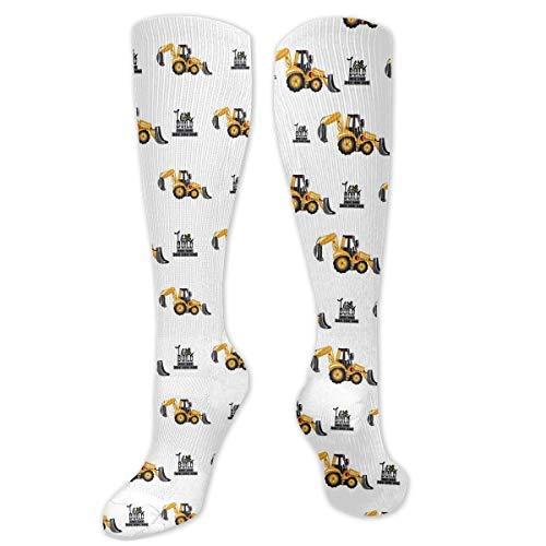 Drempad I Love Build Calcetines de Vestir Divertidos Unisex Crew Socks Calcetines Largos 50CM