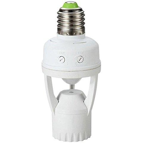 Maclean Energy MCE24 Support de l'ampoule avec détecteur de mouvement détection de sécurité E27 60W Capteur de Mouvements