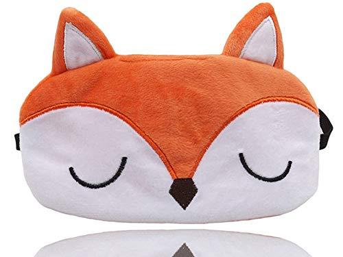 Laahoem Tierschlaf Augenmaske Nette lustige 3D Weiche Flauschige Cartoon Augenmaske Zum Schlafen Reisen Atmungsaktive Lidschattenmaske Kinder Erwachsene Frauen Fox Orange